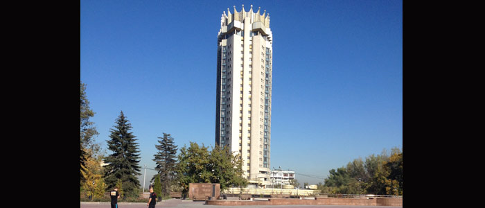 Das Hotel Kasachstan kennt jeder in Almaty. (Quelle: Ruti)