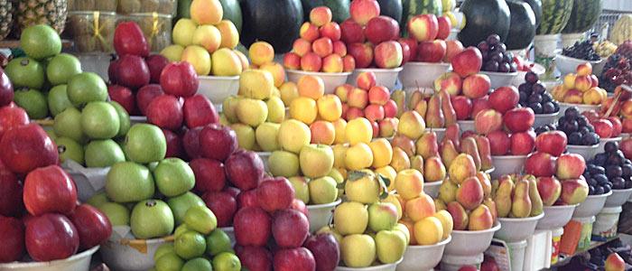 In der Apfelstadt dürfen Äpfel natürlich nicht fehlen. (Quelle: ruti)