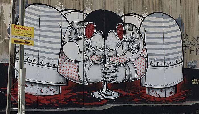 Graffiti an der Grenzmauer in Bethlehem. (Quelle: ruti)