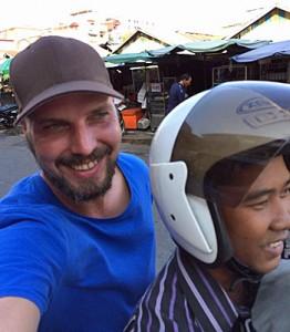 Moped-Taxi in Phnom Penh (Foto: ruti)
