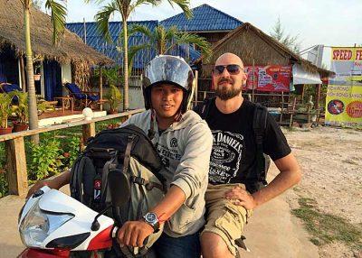 Motorrad-Taxi in Sihanoukville (Foto: ruti)