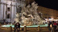 Fontana dei Quattro Fiumi auf der Piazza Navona. Vier Statuen symbolisieren die vier großen Flüsse der vier damals bekannten Kontinente - ein krasses Teil. (Foto: ruti)