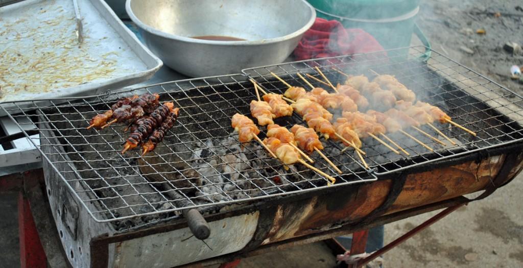 Saté-Grill in Ayutthaya (Quelle: ruti)