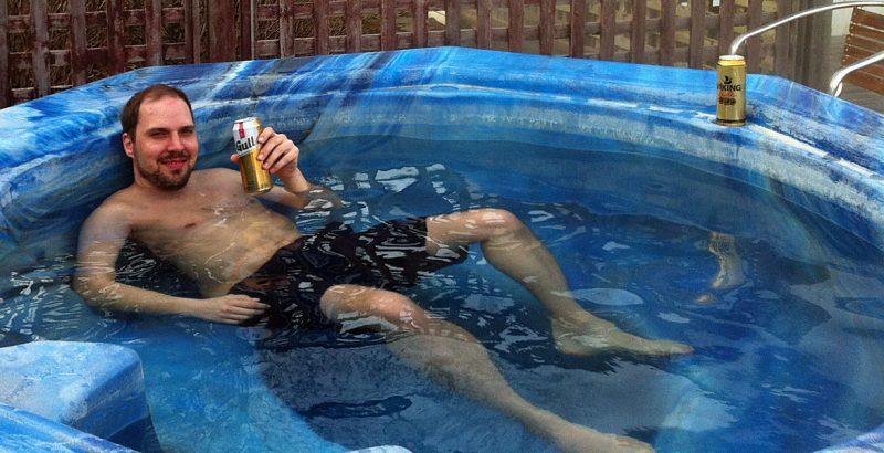 Gull-Bier im Hot Tub (Foto: ruti)