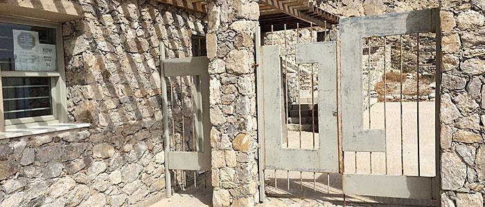 Kein Einlass - das Tor nach Alt-Thera ist zu. (Foto: ruti)