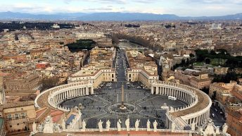 Für dieses Foto musste ich hinauf auf die Kuppel des Petersdoms. (Foto: Ruti)