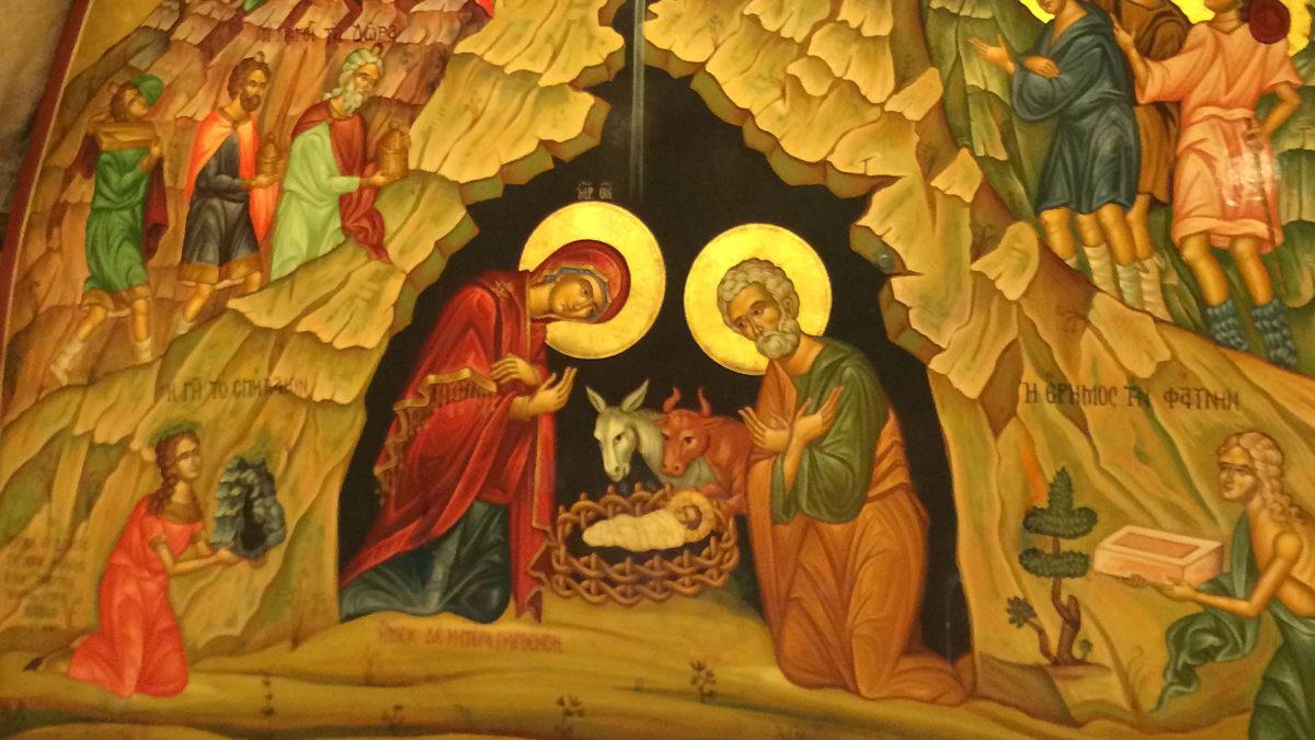 Bild über der Geburtsstelle Jesu. (Foto: ruti)