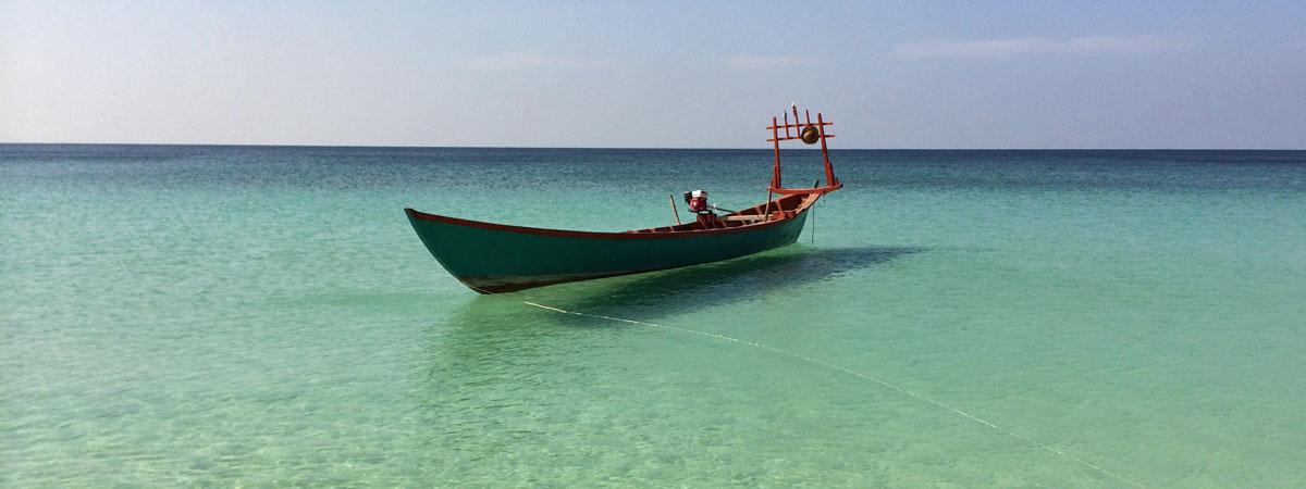 Ein Fischerboot auf Koh Rong (Quelle: ruti)