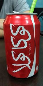 Sehr geil aussehende Cola-Dose in Bethlehem (Foto: ruti)