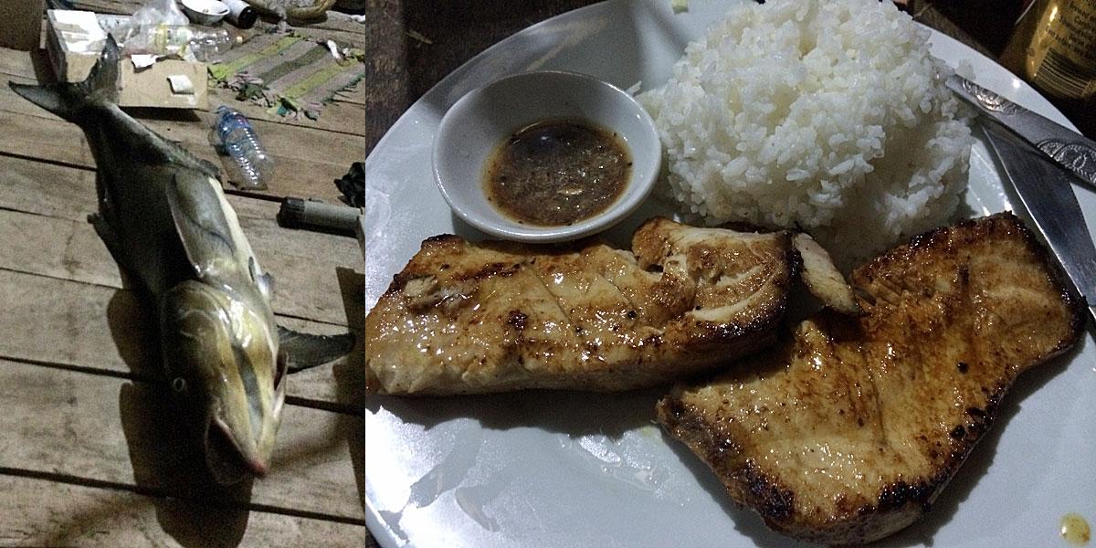 Frisch gefangener Fisch als Steak auf Koh Rong (Quelle: ruti)