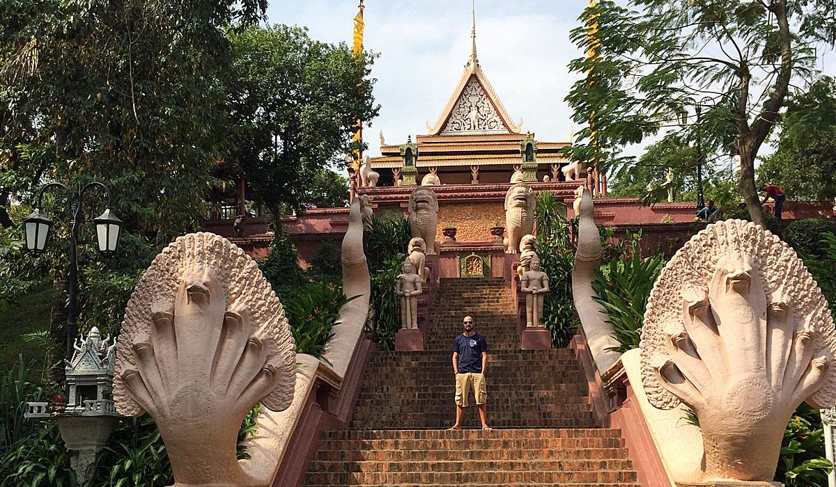 Wat Phnom in Phnom Penh, der Hauptstadt Kambodschas (Foto: ruti)