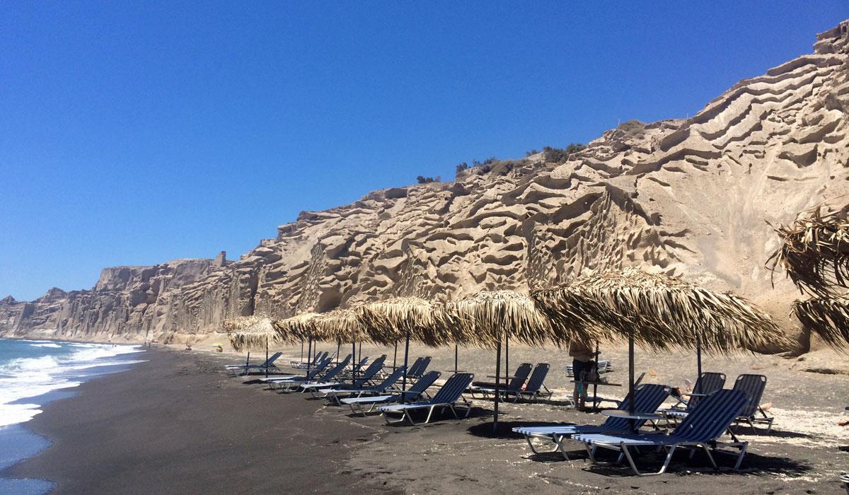 Vlychada-Beach: Einer der bizarren Strände auf Santorin (Foto: ruti)