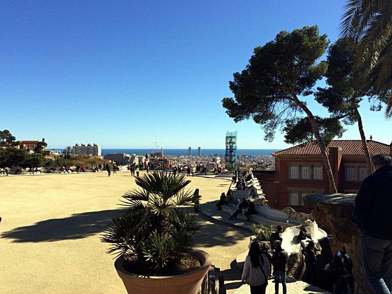 Blick über Barcelona an einem frühlingshaften Tag Ende Februar (Foto: ruti)