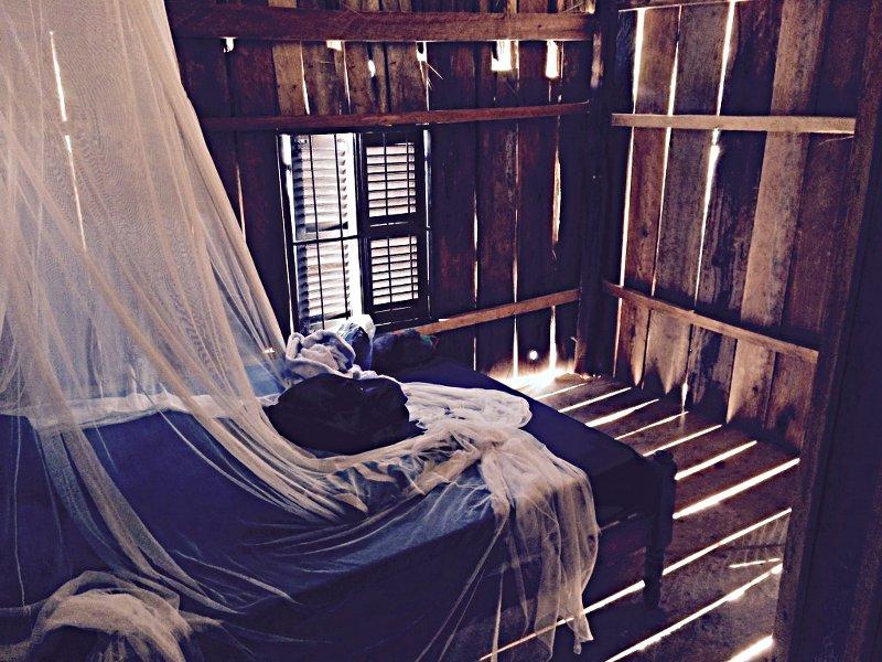 Meine Holzhütte auf Koh Rong war eher schlicht. (Foto: ruti)