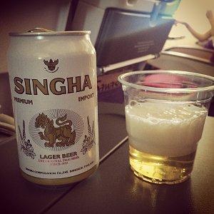 Singha Bier auf dem Weg nach Thailand (Foto: ruti)
