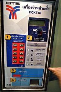 Ticket-Automat für den Skytrain in Bangkok (Foto: S.E.)