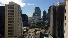 Blick aus einen Zimmer des Hotels Rembrandt Towers in Bangkok. (Foto: Ruti)