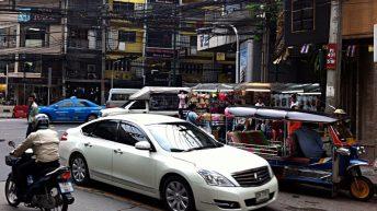 In Bangkok herrscht immer viel Verkehr, sehr viel. (Foto: Ruti)
