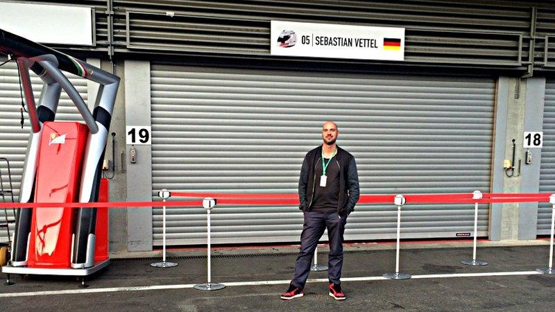 Die Garage von Sebastian Vettel (Foto: ruti)