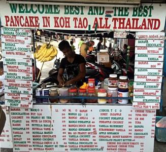 Ob dieser Pancake-Shop wirklich der beste in ganz Thailand ist, sei dahingestellt. Lecker waren sie aber, die Pfannekuchen. (Foto: Ruti)