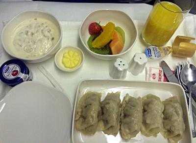 Bei Vietnam Airlines gibts in der Business Class Dim Sum zum Frühstück. (Foto: Ruti)