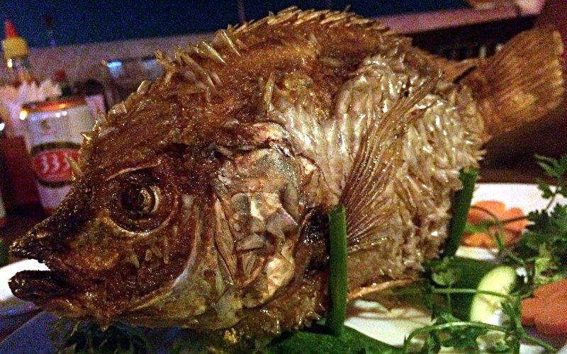 Fish - Mekong-Style ist ein optisch sehr cooles Gericht in Vietnam. (Foto: Ruti)