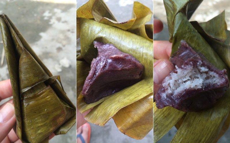 Das ist was Süßes mit Kokosnuss zum Auspacken in Vietnam. (Foto: Ruti)