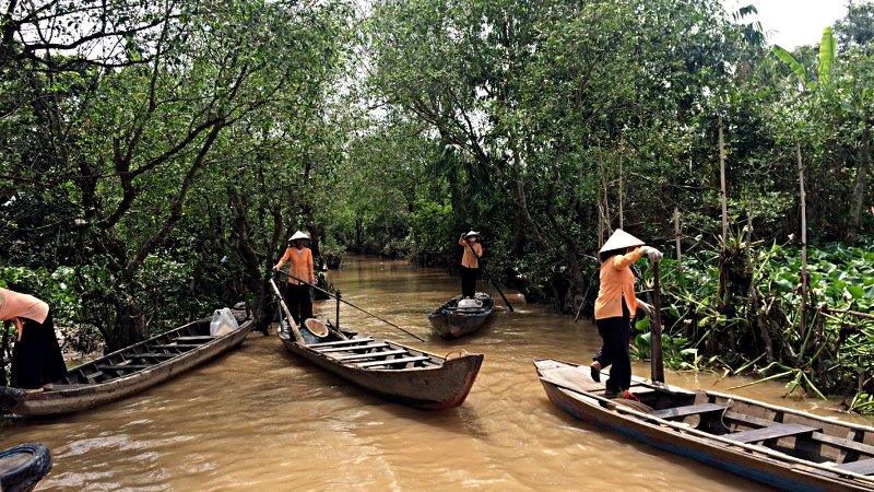 Ein Seitenarm im Mekong-Delta Vietnams (Foto: Ruti)