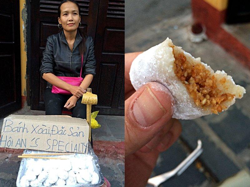 In Hoi An gibts viele kleine Leckereien am Straßenrand. Das hier ist was Süßes. (Foto: Ruti)