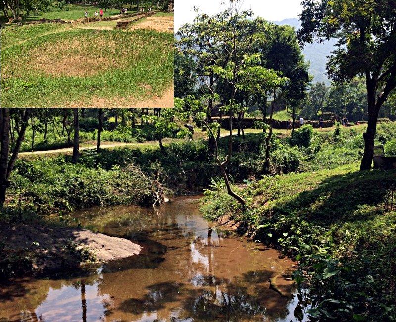 Die Anlage in My Son ist übersät von Bombenkratern aus dem Vietnamkrieg. Aus manchen sind inzwischen kleine Seen geworden. (Foto: Ruti)