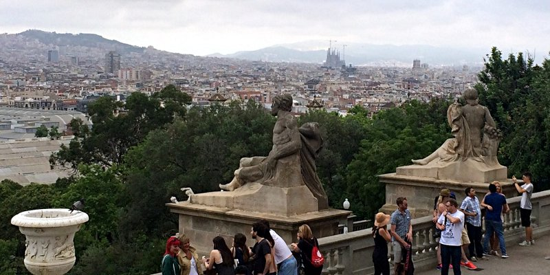 Blick über Barcelona vom Montjuic aus (Foto: Ruti)