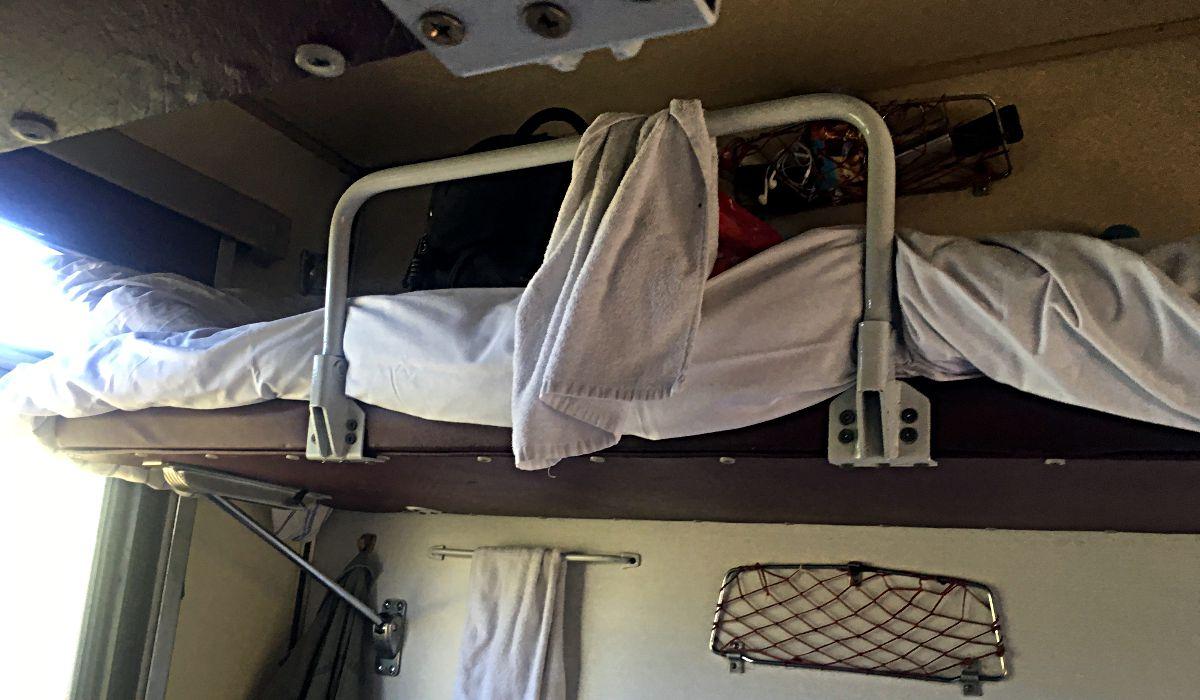 Mein Bett in der transsibirischen Eisenbahn (Foto: Ruti)