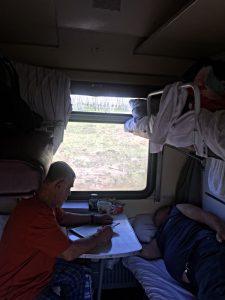 Das waren meine Begleiter in der transsibirischen Eisenbahn von Moskau nach Irkutsk. (Foto: Ruti)