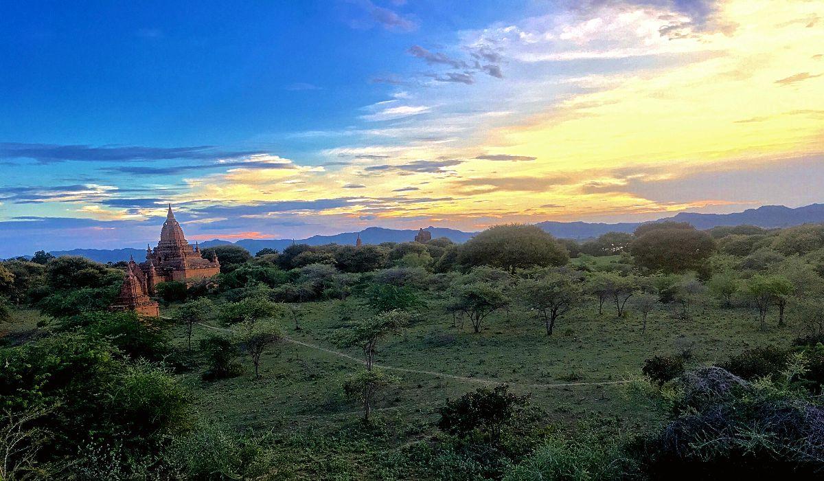 Die Tempelruinenstadt Bagan in Myanmar. (Foto: Ruti)
