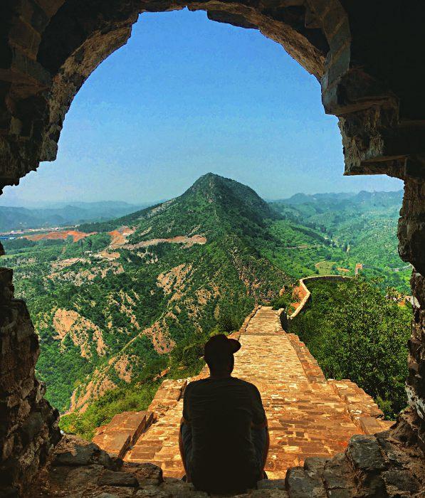 Nächstes Mega-Highlight: die chinesische Mauer (Foto: Ruti)