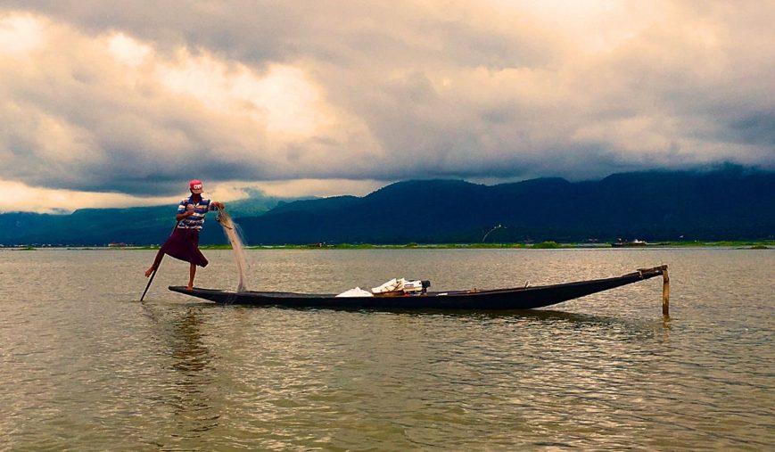 Fischer auf dem Inle-See in Myanmar (Foto: Ruti)