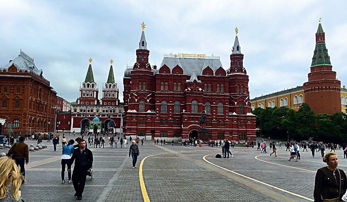 Auf dem Roten Platz in Moskau wollte ich schon immer mal stehen. (Foto: Ruti)