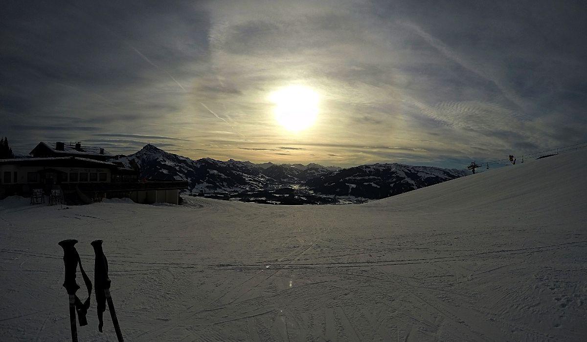 Sankt Johann in Tirol hat gleich 3 Skigebiete zu bieten: im Ort selbst, Kitzbühel und der Wilde Kaiser (im Bild). (Foto: Ruti)