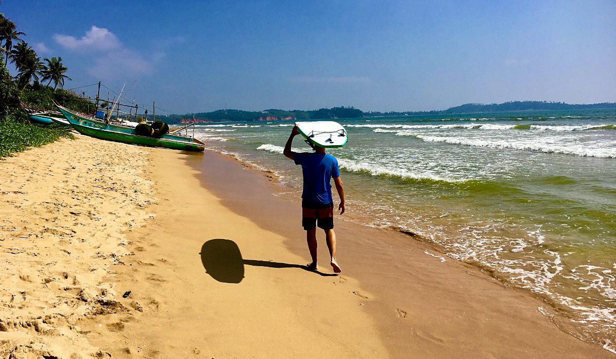 In Sri Lanka war ich zum ersten Mal Surfen, aber bestimmt nicht zum letzten Mal. (Foto: Ruti)
