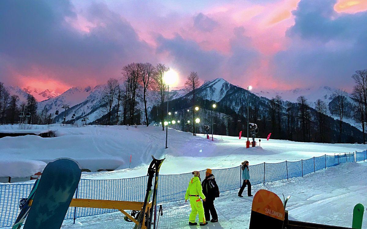 Rosa Khutor - eines der Skigebiete bei Sotschi. (Foto: Ruti)