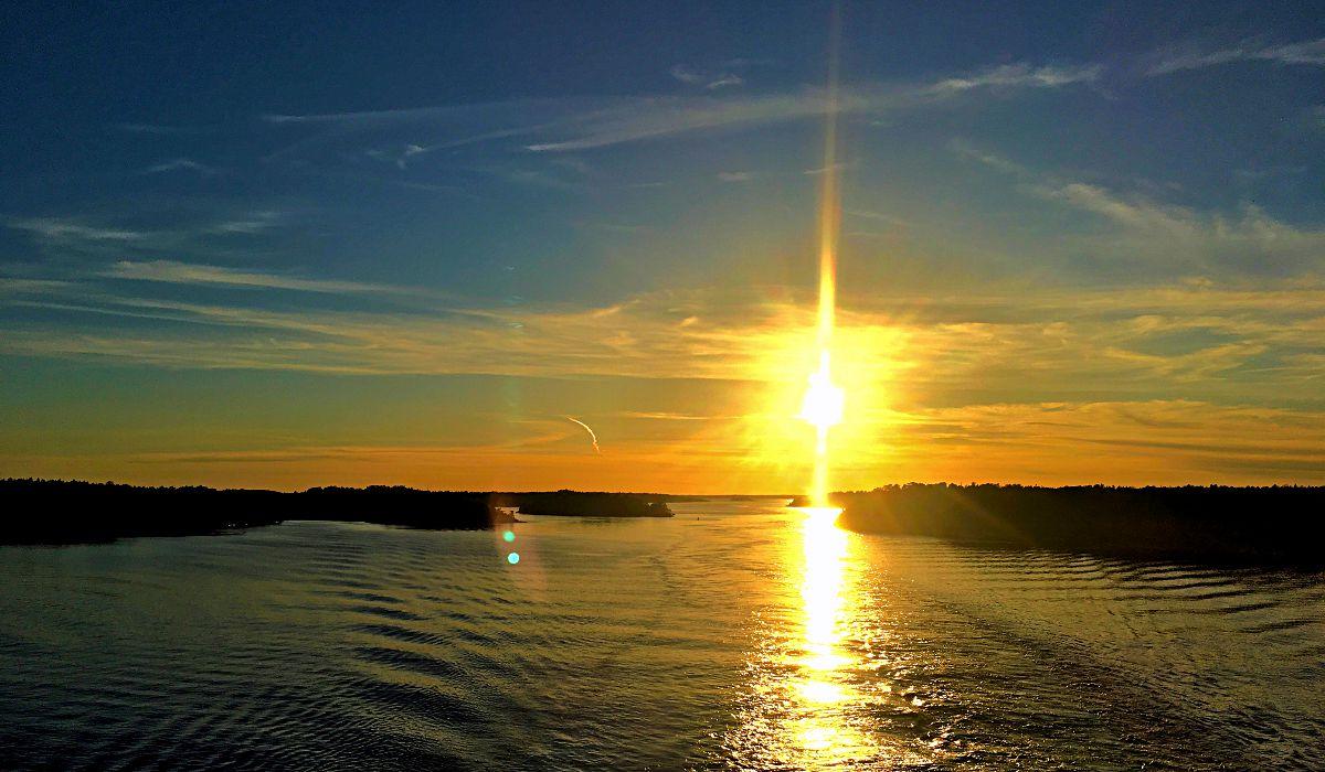 Schweden verabschiedete sich von mir mit diesem Sonnenuntergang. (Foto: Ruti)