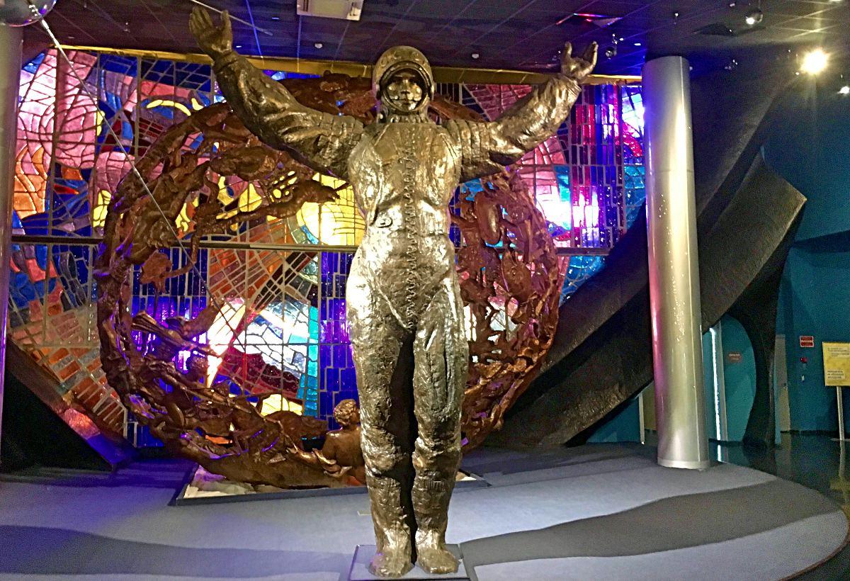 Im Kosmonauten-Museum ist Juri Gagarin der Star. (Foto: Ruti)