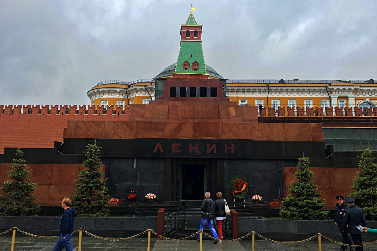 Im Lenin-Mausoleum ist der Leichnam Wladimir Iljitsch Lenins ausgestellt. (Foto: Ruti)
