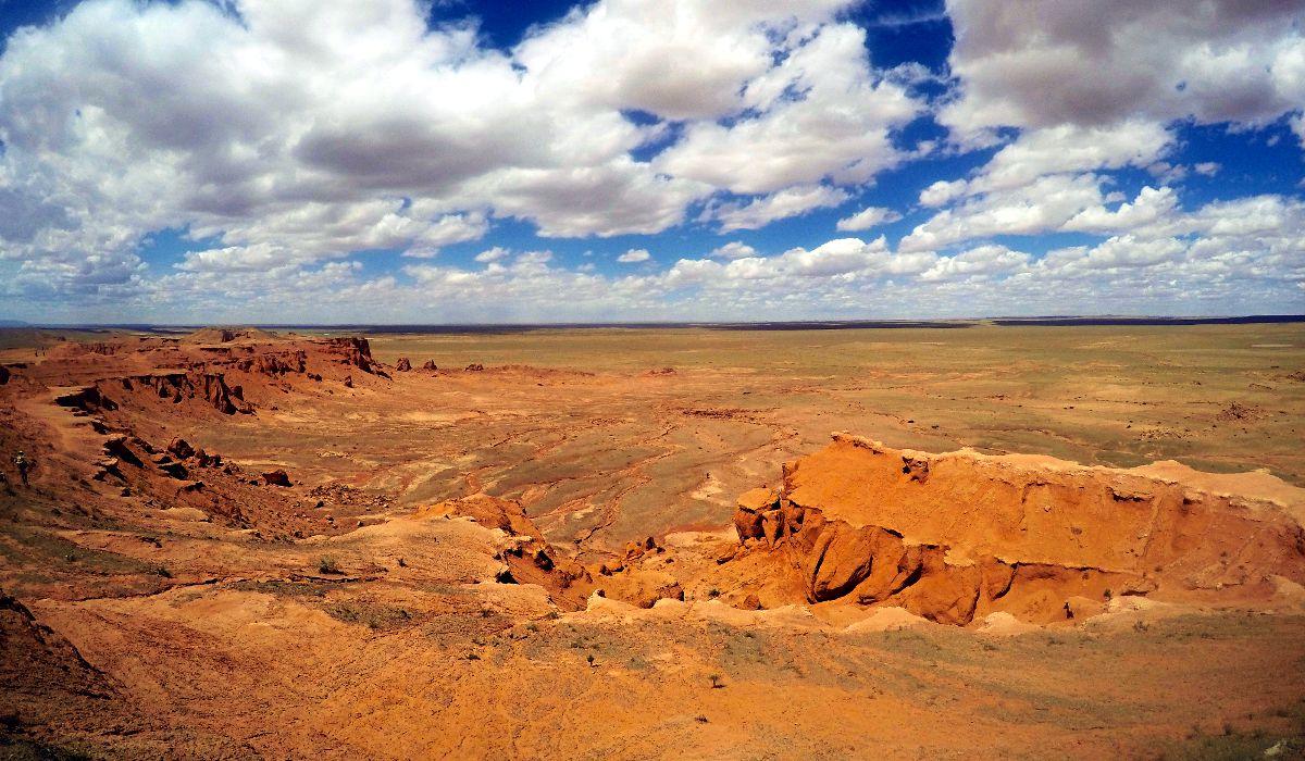 Die flammenden Klippen in der Mongolei (Foto: Ruti)