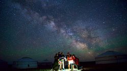 Der erste Abend in der mongolischen Steppe bescherte uns den perfekten Sternenhimmel. (Foto: http://m.blog.naver.com/wrinklecat)