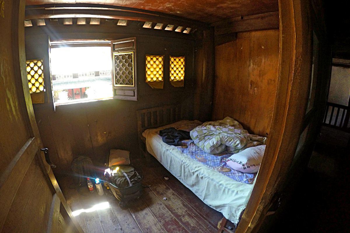 Das war mein Zimmer im Wu-Wei-Tempel bei Dali in China. (Foto: Ruti)