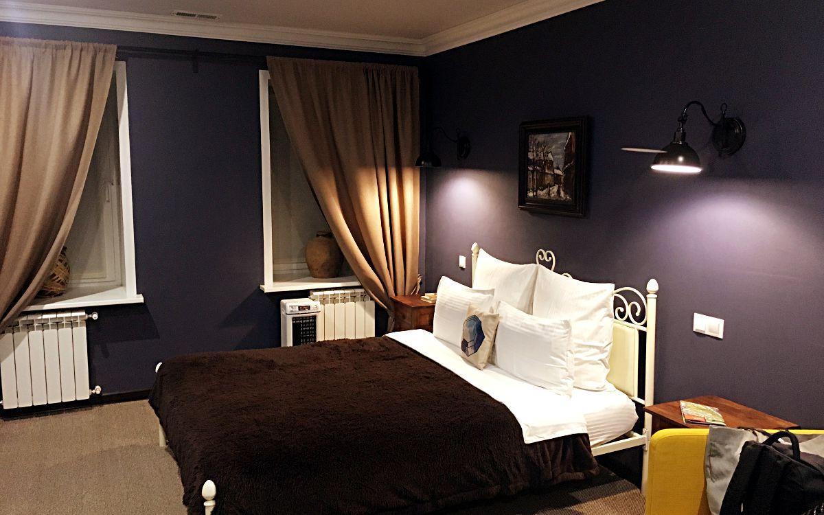 Unser Zimmer im hübschen Krasnaya Gora Boutique Hotel in Sergijew Possad. (Foto: Ruti)