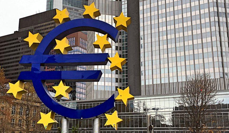 Die Euro-Skulptur in Frankfurt. (Foto: Ruti)