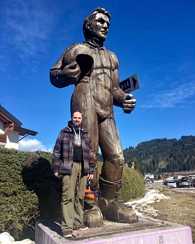 Ski-Legenden unter sich - der Herminator (li.) und der Rutinator (Foto: Ruti)