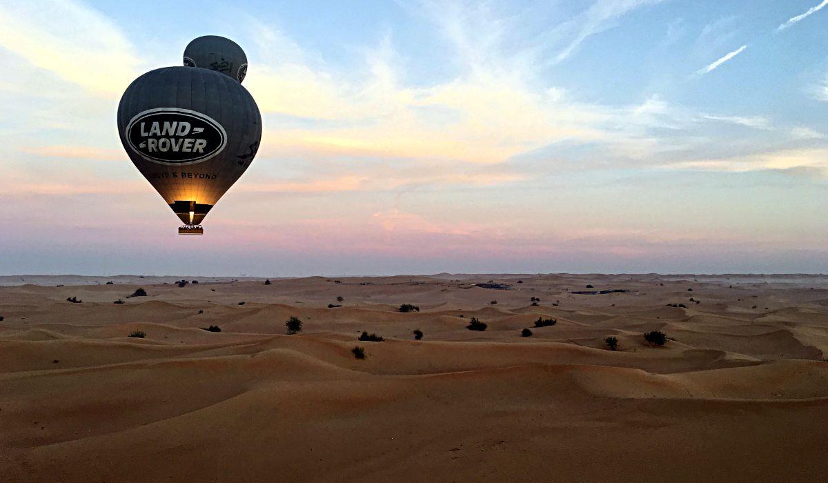 Eine Ballonfahrt in der Wüste vor Dubai ist eine Erinnerung fürs Leben. (Foto: Ruti)